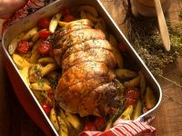 Roast Lamb with Rosemary and Basil recipe