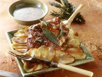 Roast Lamb with Sliced Potatoes recipe