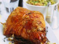 Herby Golden Lamb Roast recipe