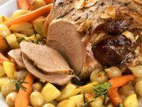 Roast Leg of Lamb with Braised Vegetables recipe
