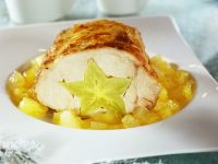 Roast Pork and Star Fruit with Pineapple Compote recipe