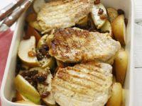 Roast Pork Chops with Fruit recipe