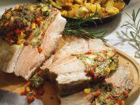 Roast Pork Stuffed with Peppers recipe
