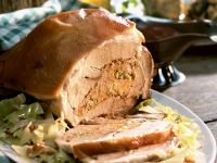 Roast Pork Stuffed with White Cabbage recipe