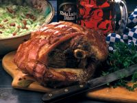 Roast Pork with Cabbage and Bacon Salad recipe