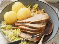 Roast Pork with Cabbage and Dumplings recipe