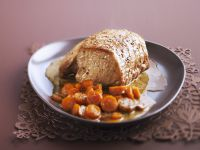 Roast Pork with Carrots and Mustard-Cider Sauce recipe