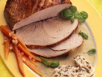 Roast Pork with Gravy and Wild Rice recipe