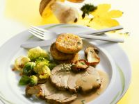 Roast Pork with Mushroom Sauce recipe