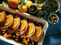 Roast Pork with Olives and Oranges recipe