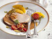 Roast Pork with Orange Sauce and Polenta recipe