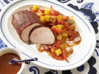 Roast Pork with Peppers and Potatoes recipe