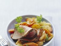 Roast Pork with Vegetables and Sauce