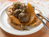 Roast Pumpkin and Meatballs recipe