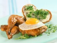 Roast Quail with Egg recipe