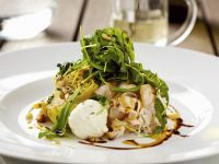 Roast Turkey Breast with Arugula, Artichoke and Goat Cheese Salad recipe