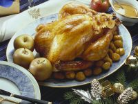 Roast Turkey with Chestnuts and Apples recipe