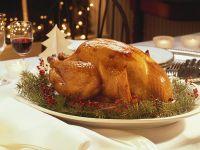 Roast Turkey with Fruit and Cornmeal Stuffing recipe