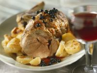 Roast Veal with Potatoes and Currants recipe