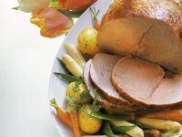 Roast Veal with Spring Vegetables recipe