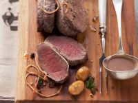 Roast Venison with Chestnut Sauce recipe