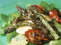 Roasted Asparagus and Tomato Salad with Hazelnut Dressing recipe