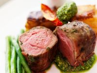 Roasted Beef Tenderloin with Parsley Pesto recipe
