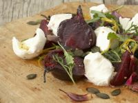 Roasted Beet Mozzarella Salad recipe