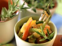 Roasted Bell Peppers and Zucchini with Herbs recipe