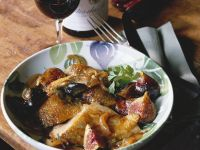Roasted Breast of Guinea Fowl with Figs recipe