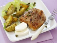 Roasted Chicken Breast with Potatoes and Mozzarella recipe