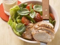 Roasted Chicken Breast with Salad recipe