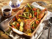 Roasted Chicken Legs with Vegetables recipe