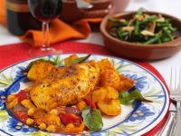 Spanish Chicken and Veggie Dish recipe
