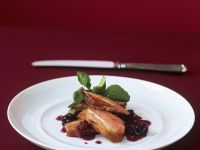 Roasted Duck Breast with Cherry Sauce recipe