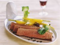 Roasted Duck Breast with Wine Sauce recipe