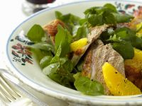Roasted Duck, with Orange, Honey and Cress