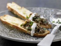 Roasted-Eggplant Spread on Flatbreads recipe