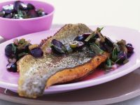 Roasted Fillet of Char with Grapes recipe