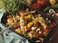 Roasted Herb Chicken Pieces with Vegetables recipe