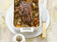 Roasted Kid (Young Goat) Shoulder with Vegetables recipe