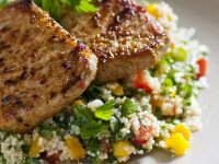 Roasted Pork Loin with Herbed Couscous recipe