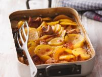 Roasted Pork with Potatoes and Pears recipe