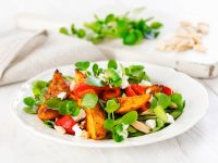 Roasted Potato and Pepper Salad with Goat Cheese recipe