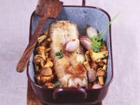 Roasted Rabbit Saddle with Chanterelles recipe