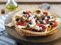 Roasted Red Pepper Pizza recipe