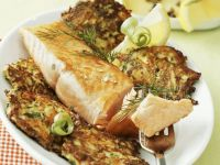 Roasted Salmon Fillets with Potato Cakes recipe