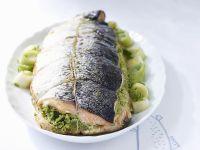 Roasted Salmon Stuffed with Herb Cream recipe