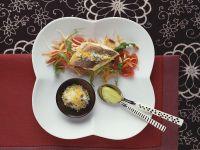 Roasted Sea Bass on Vegetables recipe