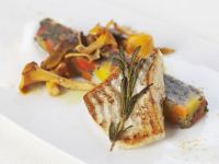 Roasted Turbot with Rosemary and Chanterelles recipe